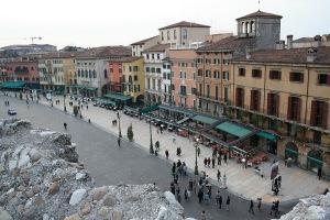 Поглед към града от Arena di Verona
